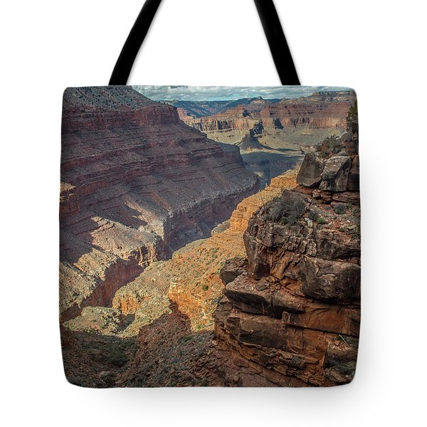 Tote Bag featuring the photograph Deep Canyon View by Matthew Irvin