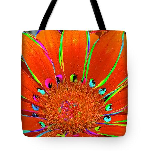 Deep Coral Bloom  Tote Bag