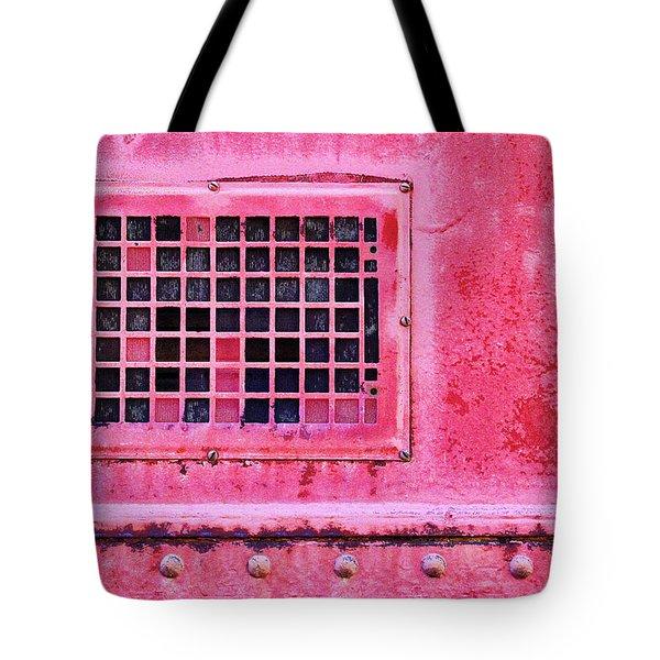 Deep Pink Train Engine Vent Tote Bag