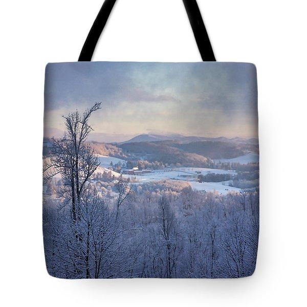 Deer Valley Winter View Tote Bag