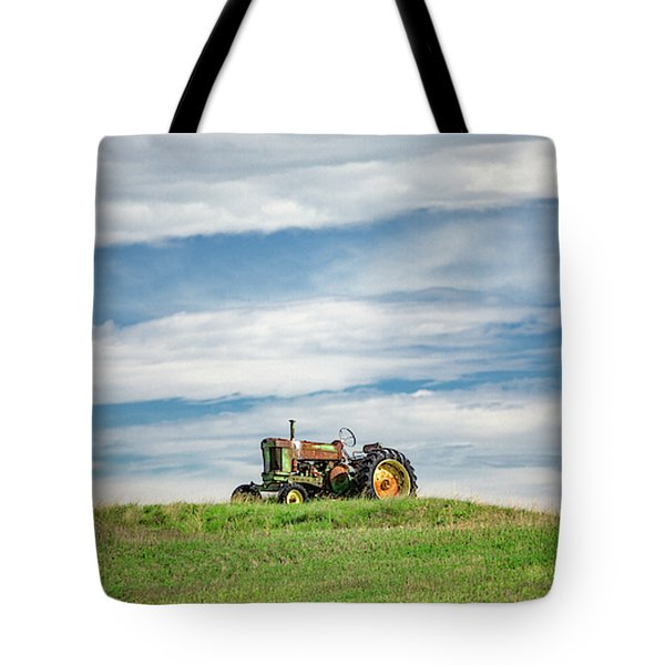 Deere On The Hill Tote Bag