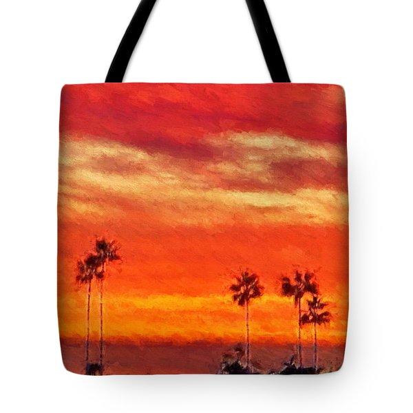 Del Mar Sunset Tote Bag