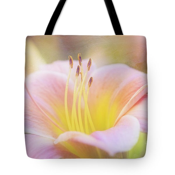 Delicate Pink Daylily Tote Bag