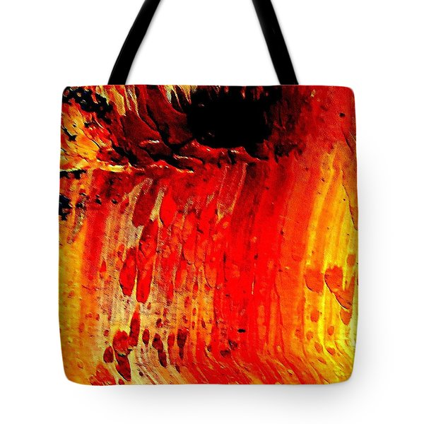 Tote Bag featuring the painting Delicious Paint Abstract by VIVA Anderson