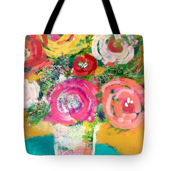 Delightful Bouquet 4- Art By Linda Woods Tote Bag