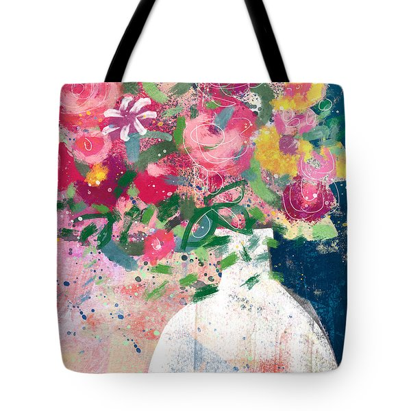 Delightful Bouquet- Art By Linda Woods Tote Bag