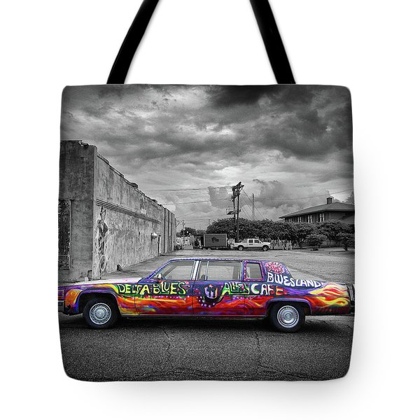 Tote Bag featuring the photograph Delta Blues Limo by Jim Mathis