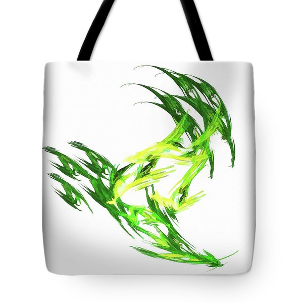 Deluxe Throwing Star Green Tote Bag