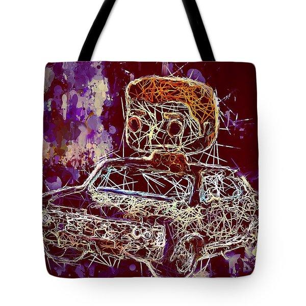Dean Winchester Car Supernatural Pop  Tote Bag