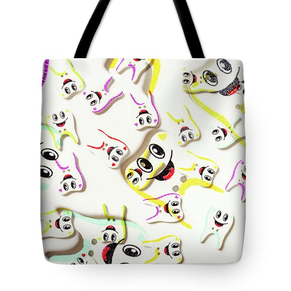 Dental Clinic Caricatures Tote Bag