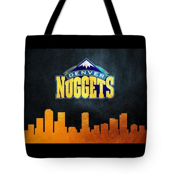 Denver Nuggets Skyline Tote Bag