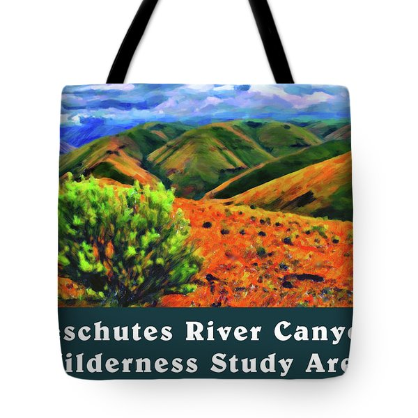 Deschutes River Canyon 1 Tote Bag