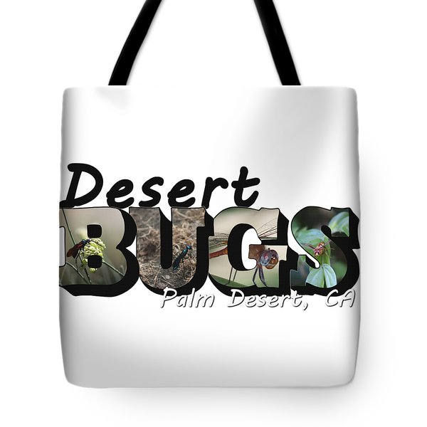 Desert Bugs Big Letter Tote Bag