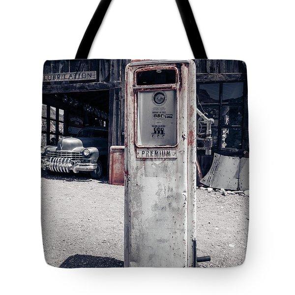 Desert Gas Station Chevron Tote Bag