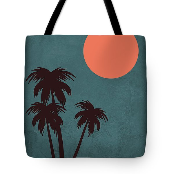 Desert Palm Trees Tote Bag