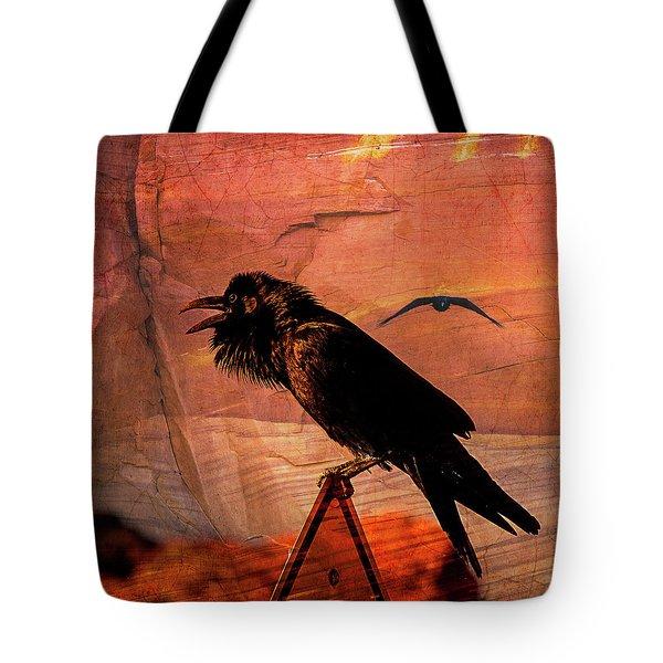 Desert Raven Tote Bag