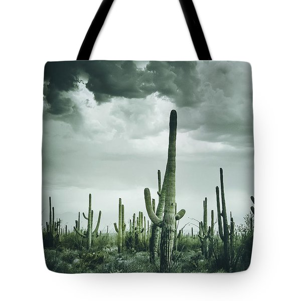 Desert Storm In Arizona Tote Bag