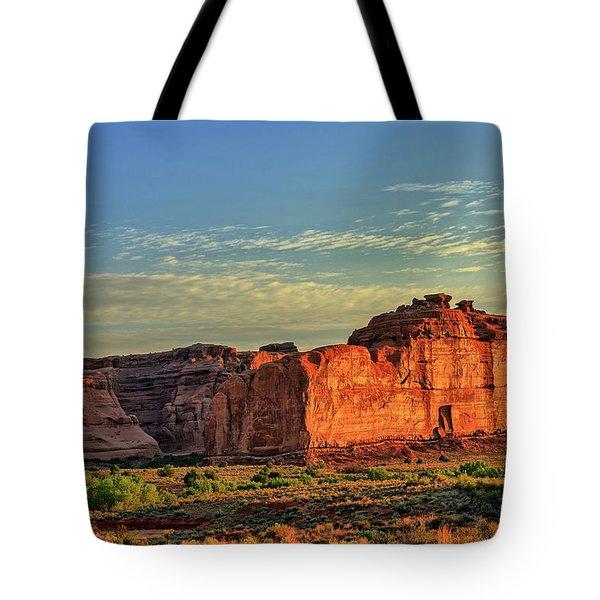 Desert Sunrise In Color Tote Bag