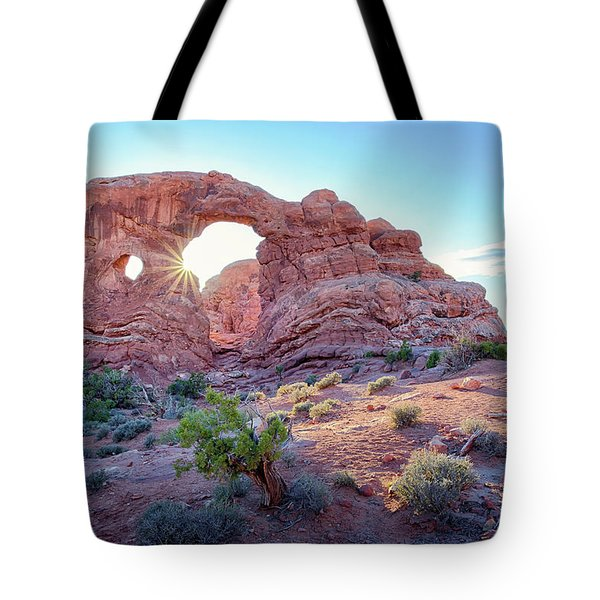 Desert Sunset Arches National Park Tote Bag