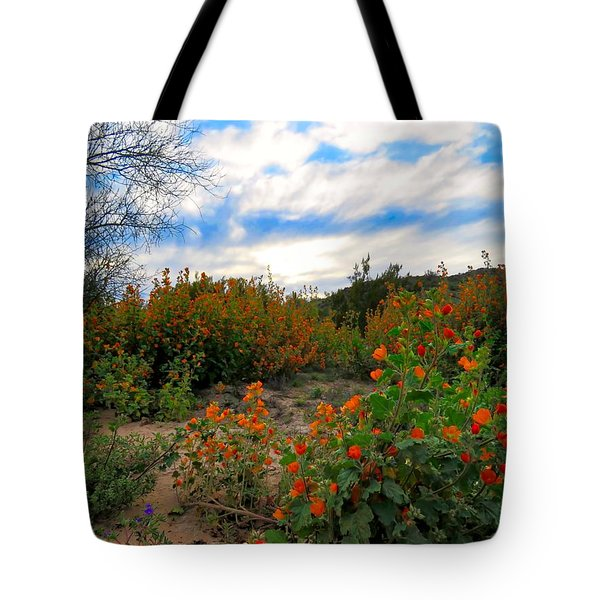 Desert Wildflowers In The Valley Tote Bag