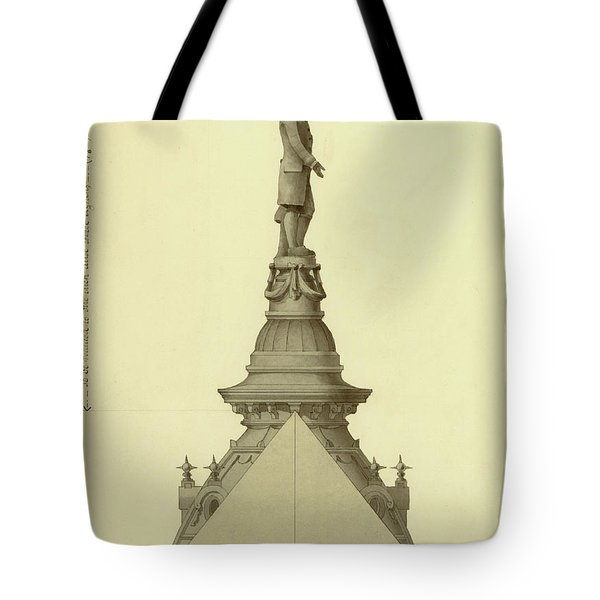 Design For City Hall Tower Tote Bag