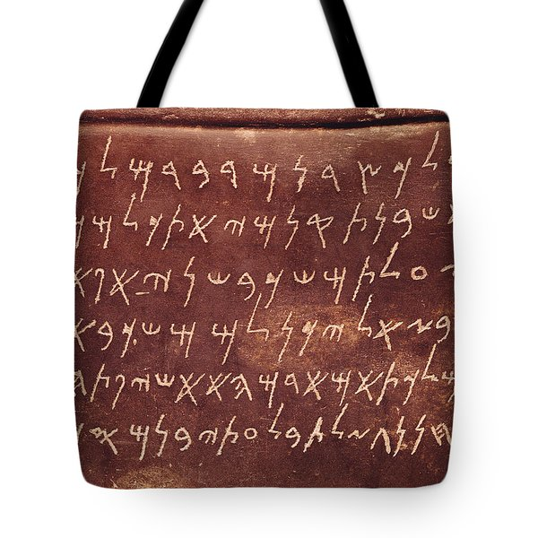 Detail Of The Inscription From The Sarcophagus Of Eshmunazar Tote Bag
