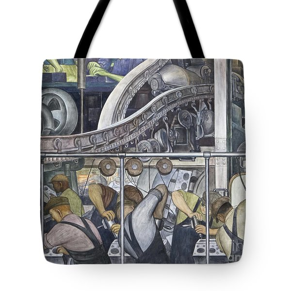 Detroit Industry, North Wall By Diego Rivera Detail Tote Bag