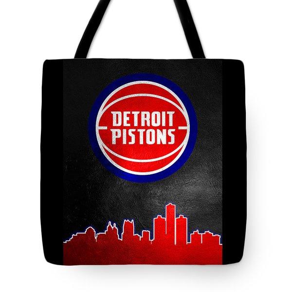 Detroit Pistons Skyline Tote Bag