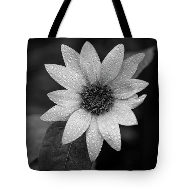Dewdrops On A Sunflower Tote Bag