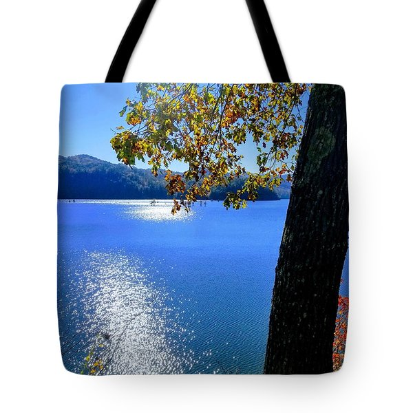 Tote Bag featuring the photograph Diamond Ripples On The Water by Rachel Hannah