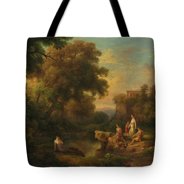 Diana And Her Nymphs, 1853 Tote Bag