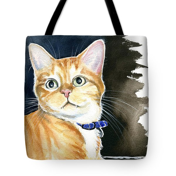 Diego Ginger Tabby Cat Painting Tote Bag