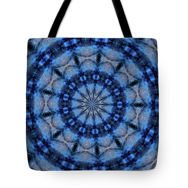 Blue Jay Mandala Tote Bag