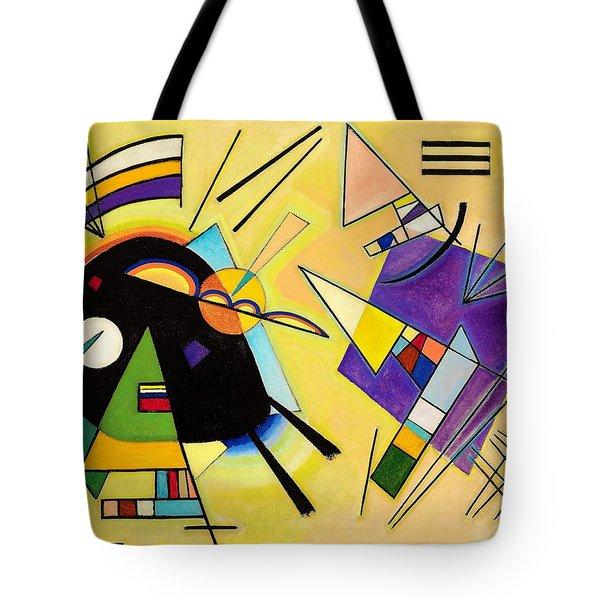 Digital Remastered Edition - Black And Purple Tote Bag