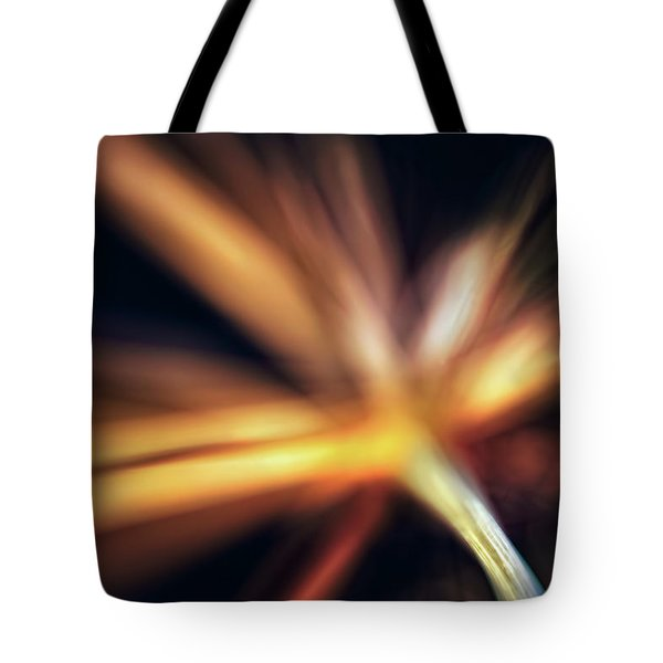 Dill Flower Abstract Tote Bag