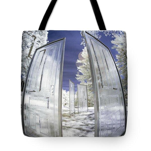 Dimensional Doors Tote Bag