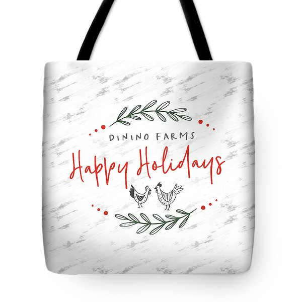 Tote Bag featuring the digital art Dinino Farms- Art By Linda Woods by Linda Woods