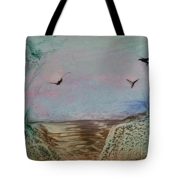 Dirt Road Through A Valley Tote Bag
