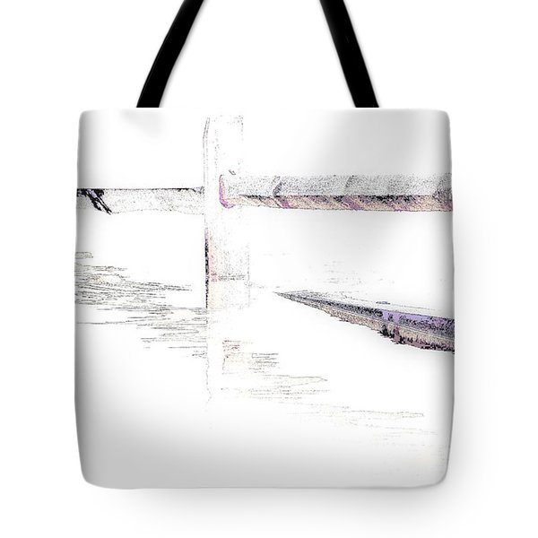 Disappearing Fence Tote Bag