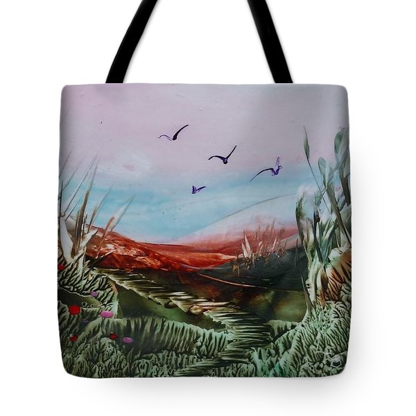 Disappearing Pathway Tote Bag