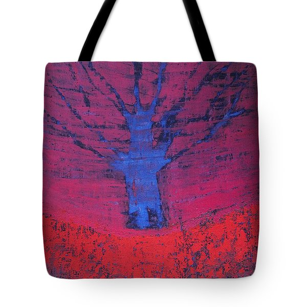 Disappearing Tree Original Painting Tote Bag