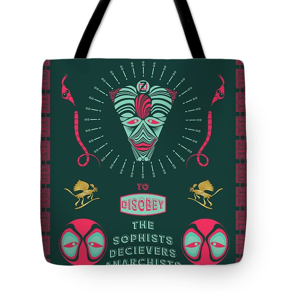 Tote Bag featuring the digital art Disobey No 1 by Alan Bennington