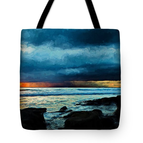 Distant Rain Clouds Tote Bag