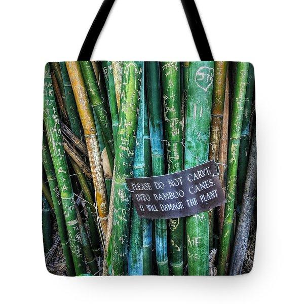 Do Not Carve Tote Bag