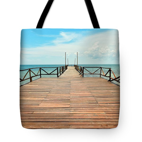 Dock To Infinity Tote Bag