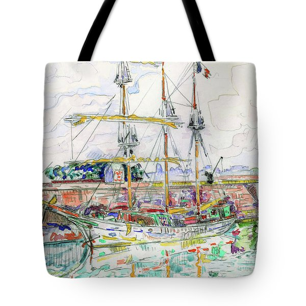 Docks At Saint Malo - Digital Remastered Edition Tote Bag