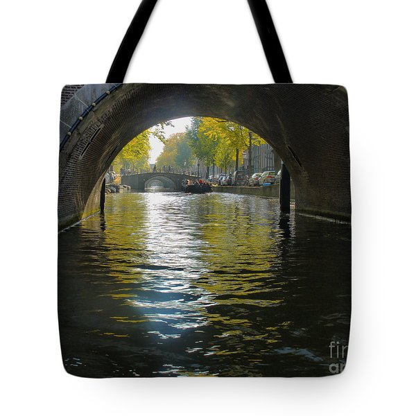 Dof On An Amsterdam Canal Tote Bag