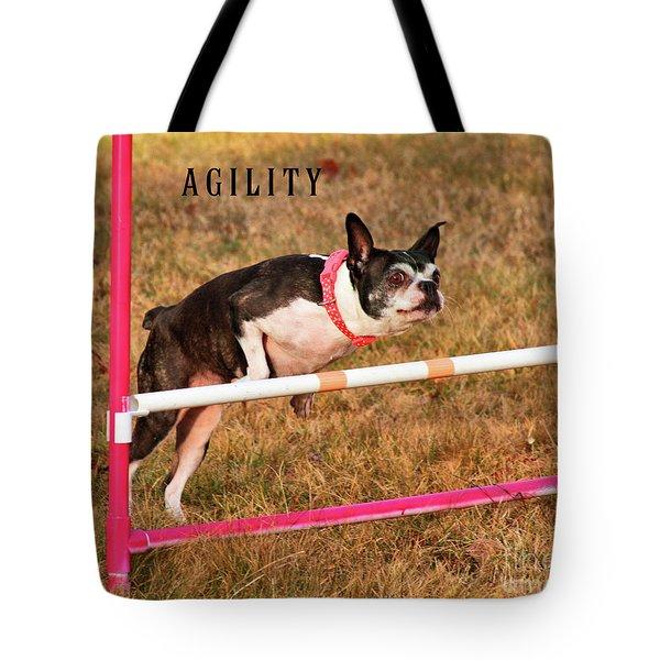Doggie Agility  Tote Bag