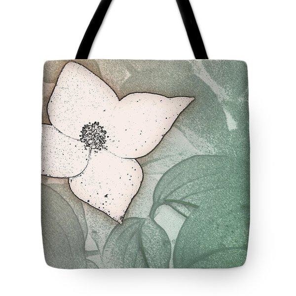Dogwood Flower Stencil On Sandstone Tote Bag