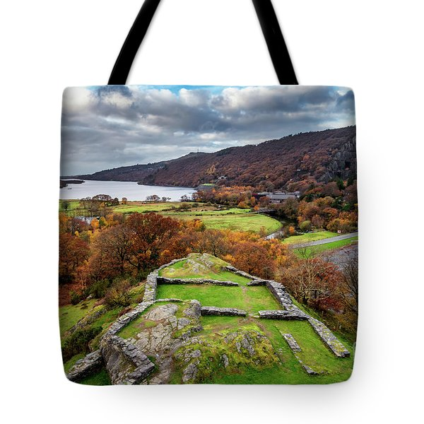 Dolbadarn Castle View Tote Bag
